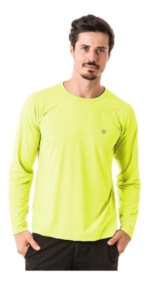 Camiseta Masculina Manga Longa New Dry Com Proteção Solar Uv