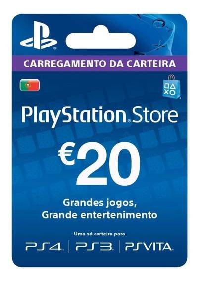 Cartão Psn 20 Euros - Psn Card Portugal - Melhor Preço