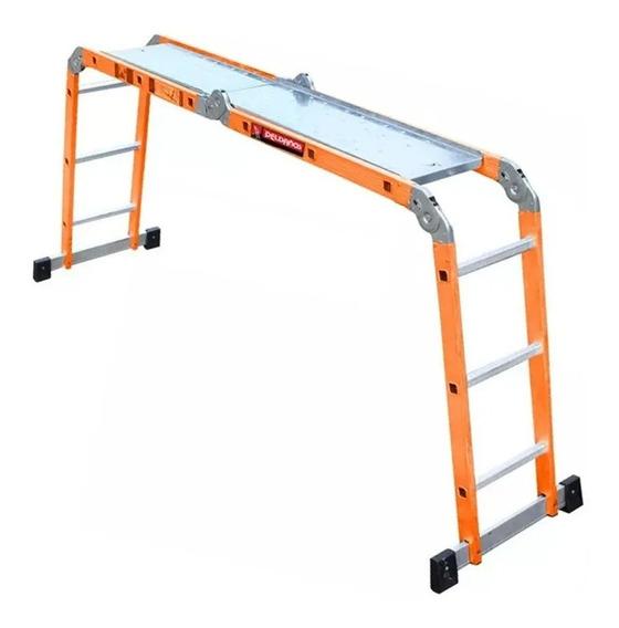 Escalera Multiposiciones Aluminio 12 Escalones Envio Gratis