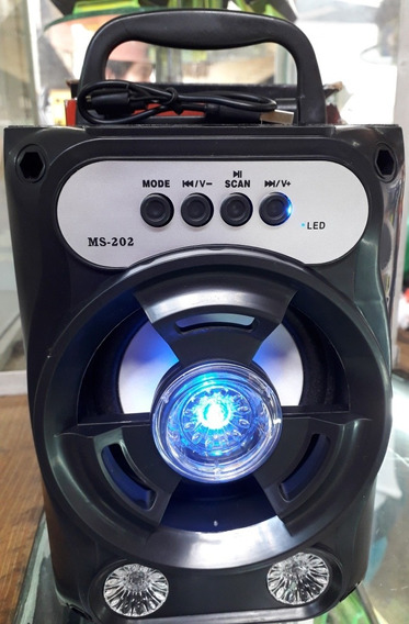 Corneta Recargable Bluetooth, Ranura Para Micro Sd, Radio Fm