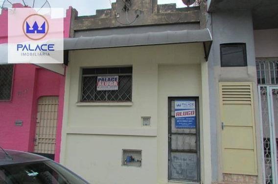 Casa Com 1 Dormitório Para Alugar, 80 M² Por R$ 800/mês - Centro - Piracicaba/sp - Ca0105