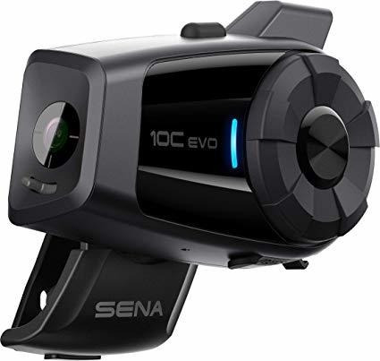 Sena 10c Evo Bluetooth De La Motocicleta De La Cámara Y Sist