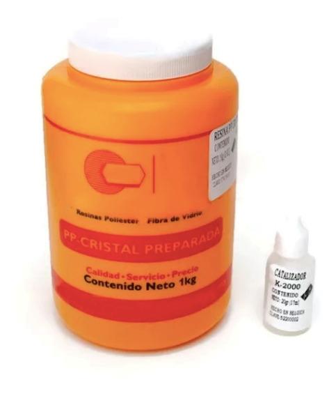 Resina Cristal Preparada Para Encapsulados O Vaciados