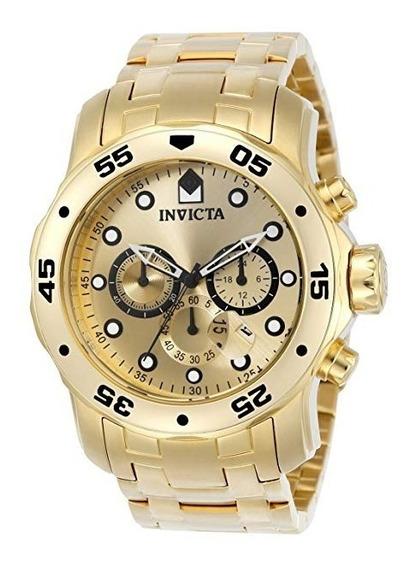 Relógio Invicta Diver 0074 Quartzo Japonês 18k Banhado