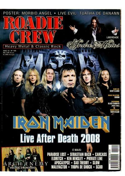 Roadie Crew Iran Maiden Liveafter Death 2008 Nº 109