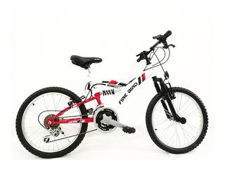 Bicicleta Mountain Bike Rod 20 Doble Suspension Fire Bird