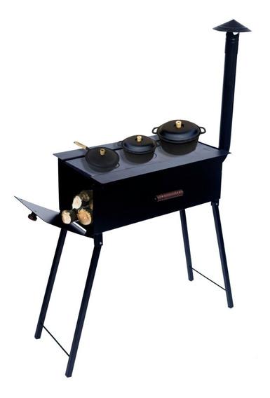 Churrasqueira Portátil Carvão Grelha/fogão À Lenha Camping