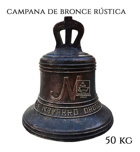 Imagen 1 de 7 de Campana Antigua O Rustica Personalizada De Bronce