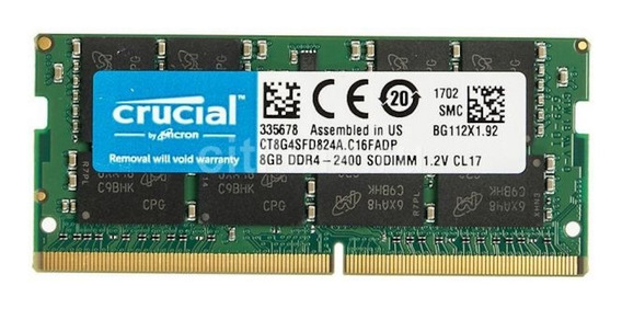 Memoria RAM 8GB 1x8GB Crucial CT8G4SFD824A