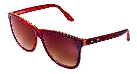 Óculos Triton Hpc239 - Malhado Verm E Marrom - 12x Sem Juros