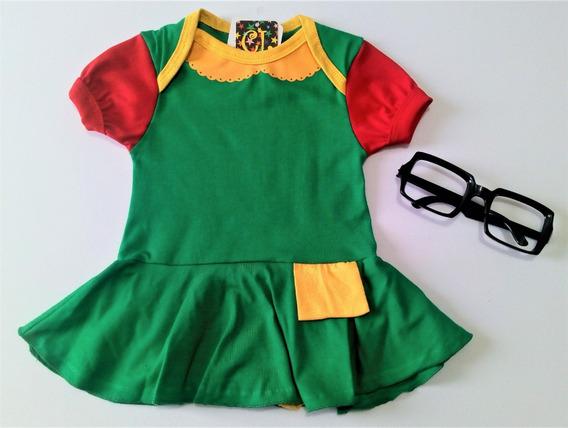 Body Infantil Chaves E Chiquinha Com Acessórios