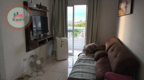 Apartamento Com 1 Dormitório À Venda, 52 M² Por R$ 225.000 - Maracanã - Praia Grande/sp - Ap5437