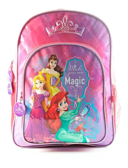 Mochila Escolar Nena Princesas De Espalda 16 Pulgadas