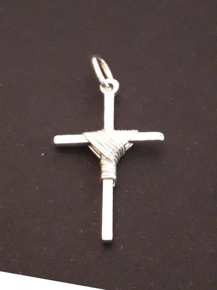 Crucifixo Prata Pura 925 Com Manto + Brinde !!!