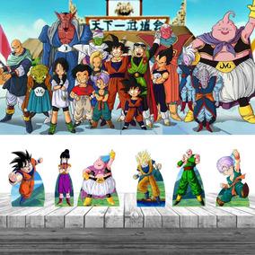 Kit 6 Displays Dragon Ball Z Painel Lona Festa Decoração