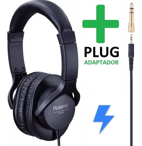 Fone De Ouvido Rh5 Roland Headphone Teclado Bateria Dj C/ Nf