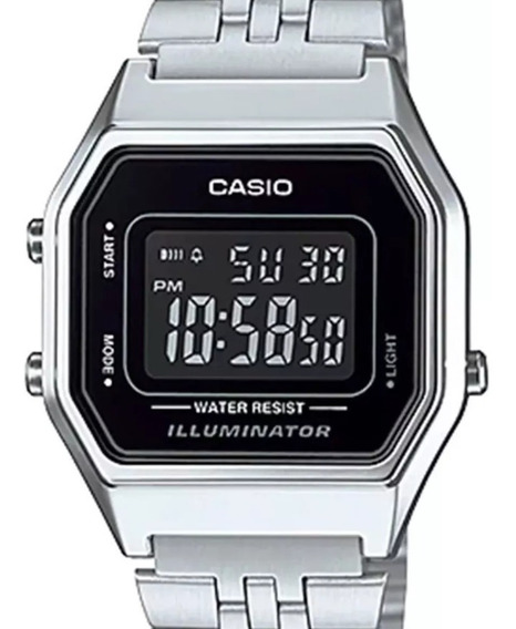 Relogio Casio Vintage Digital La680wa-1bf Original Pequeno