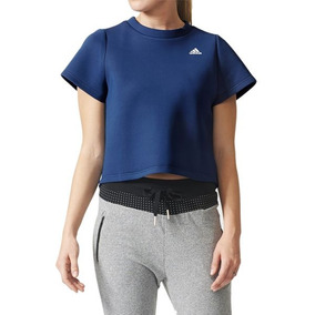 bb064b669bb Blusinha Cropped adidas Camiseta Running Fitness Casual