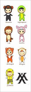 Plancha De Stickers De K-pop Monsta X