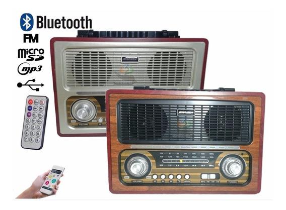 Rádio Caixa Bluetooth Modelo Antigo Tecnologia Avançada