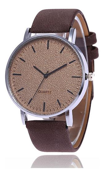 Relógio Unissex Fashion Matte Grande Mostrador Marrom