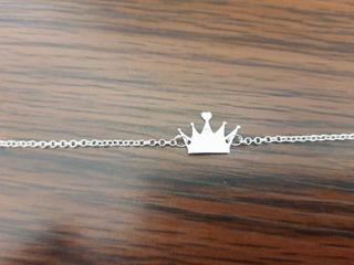 Pulseira Em Prata 950 Modelo Coroa Debutante 15 Anos