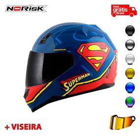 Capacete Norisk Ff391 Super Homem Symbol + Viseira