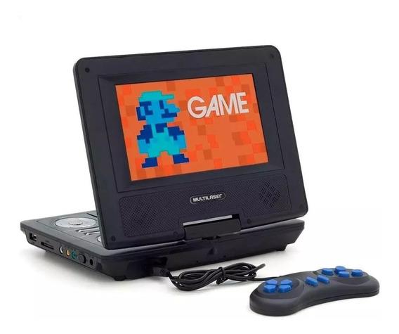 Dvd Player Portátil Multilaser Au710 Preto C/ Tela Giratoria