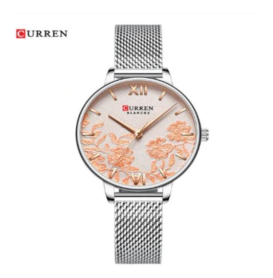 Relógio Feminino Curren 9065 Original Aço Inoxidável