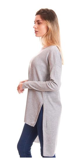 Tokyo Sweater Largo Dama Mujer Maxi Tajos Moda Abrigo Uma Go