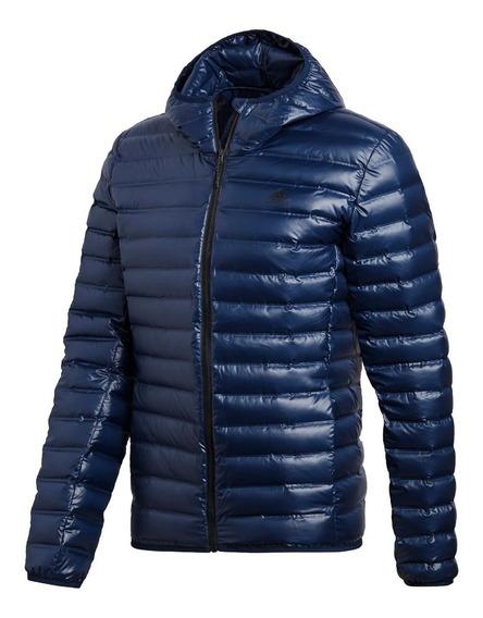 adidas Campera C/ Capucha Pluma Hombre Varilite Hooded Azul