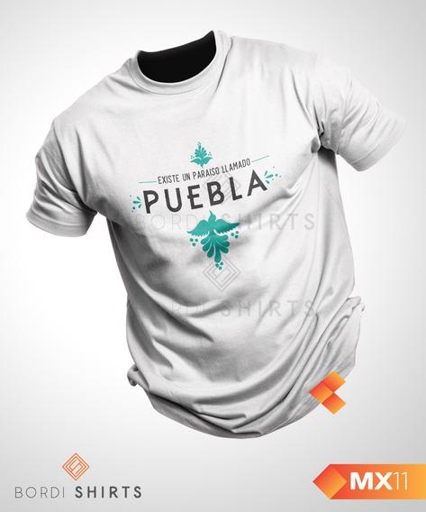 Playera Puebla, México Excelente Calidad Bordi Shirts
