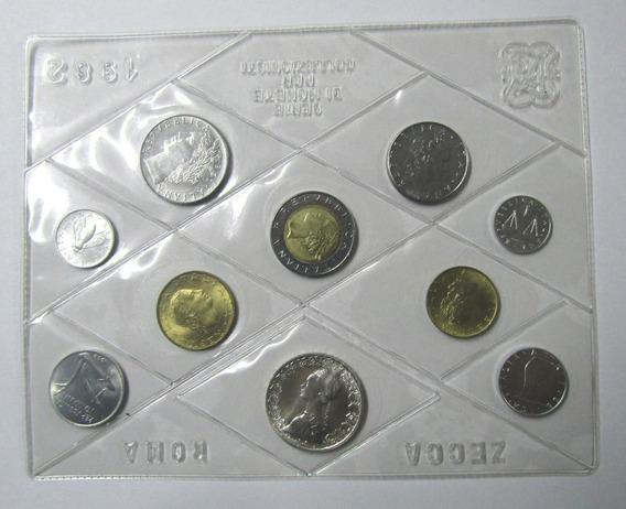 Italia Liras Año 1982 Set De 10 Monedas - 9 Niquel 1 Plata