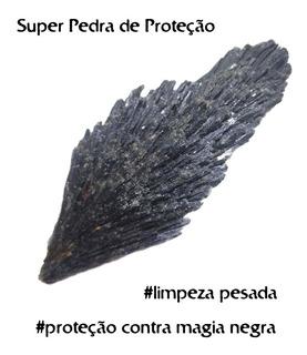 Pedra Cianita Negra Natural Vassoura De Bruxa Pequena
