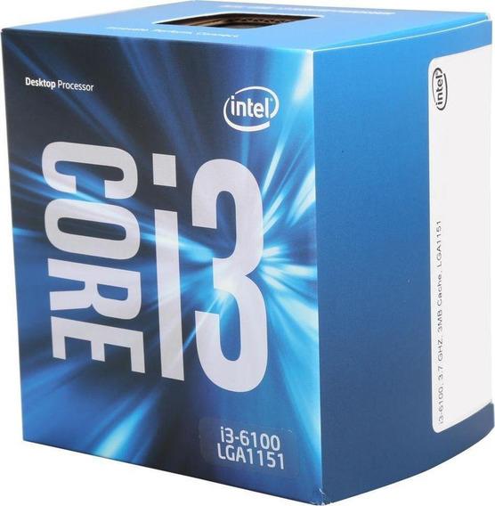Processador Intel Core I3 6100 3.7ghz 3mb Cache