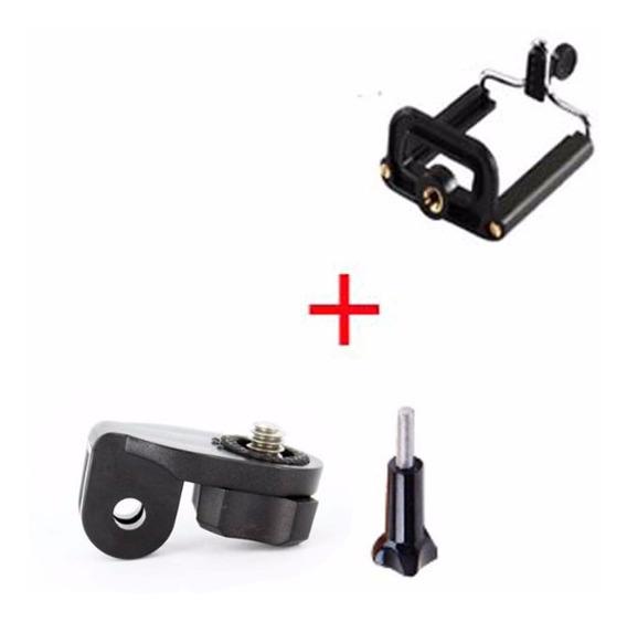 Kit Suporte Celular E Parafuso Câmeras Diversas Sony Action