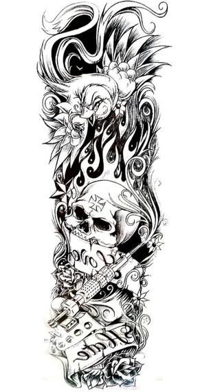 Tatuagem Braço Inteiro Fake Tattoo Tatuagens Falsa Manga