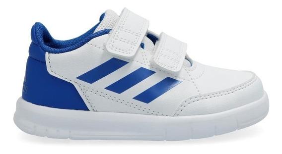 Tenis adidas Altasport Blanco/azul Velcro Bebe D96844
