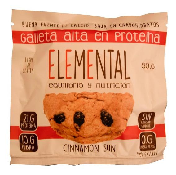 Galleta Proteina Canela Pasas 80 G