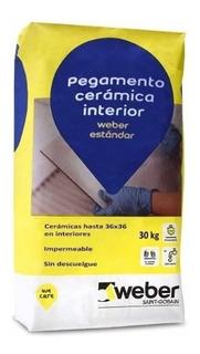 Pegamento Adhesivo Weber Estandard Impermeable X 30 Kg