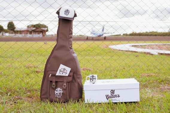 Bag Couro Para Violao Classico Luxo 91 Guitars 4ª Geração
