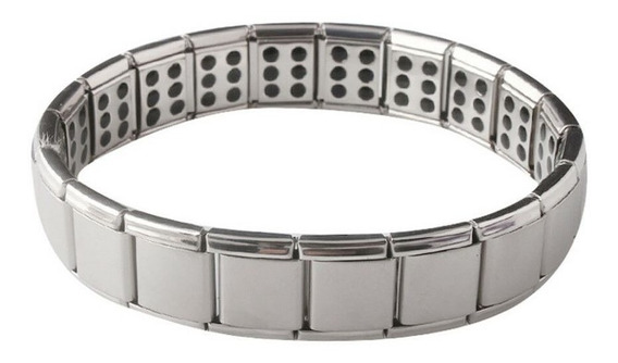 Pulseira Magnética Saúde Bracelete Emagrecer Fitness - Cinza