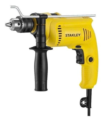 Imagen 1 de 2 de Taladro eléctrico percutor y destornillador Stanley SDH600 2900rpm 60Hz 600W amarillo 120V