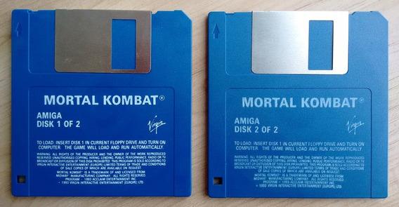 Mortal Kombat Disquetes De Instalação Virgin Commodore Amiga