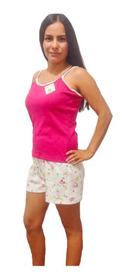 Pijama Short Tirante Dama Algodón