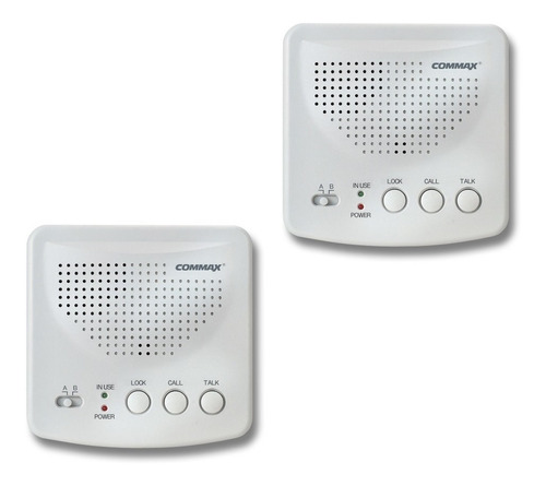 Intercomunicador Commax Wi-2b Inalambrico 2 Canales 2 Bases