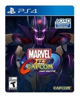 Marvel Vs Capcom Infinite Deluxe Edition - Juego Físico Ps4