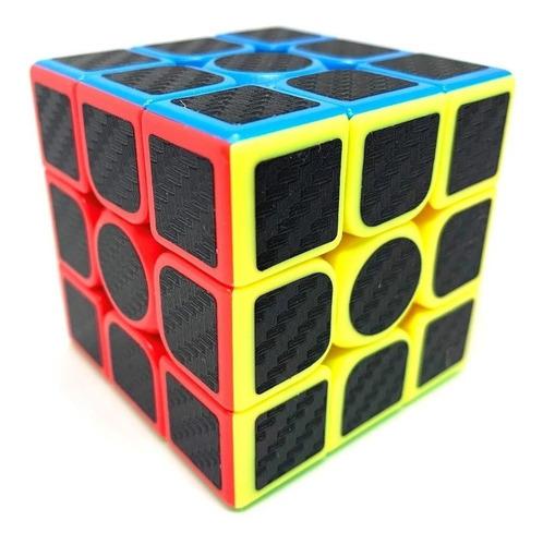 Cubo Rubik Fibra De Carbono 3x3 - Speed Cube Nuevo