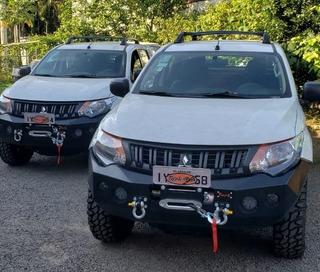 Para-choque Dianteiro Aço All New L200 Triton Berço Guincho
