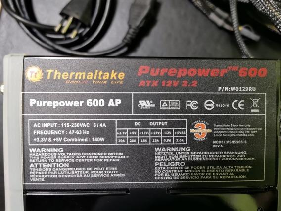 Fonte Atx Thermaltake Purepower 600 Ap